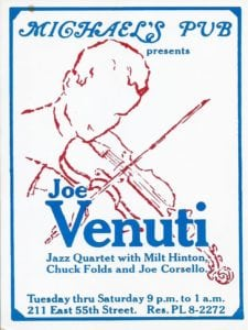 Michael's Pub Presents Joe Venuti Jazz Quartet